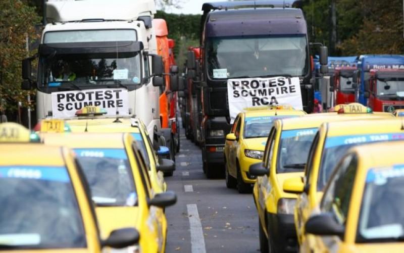 Transportatorii vor protesta astăzi în faţa Guvernului. COTAR anunţă până la 5.000 de participanţi