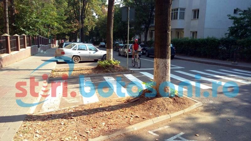 """Treceri pentru pietoni """"buclucașe"""", în municipiul Botoșani! FOTO"""