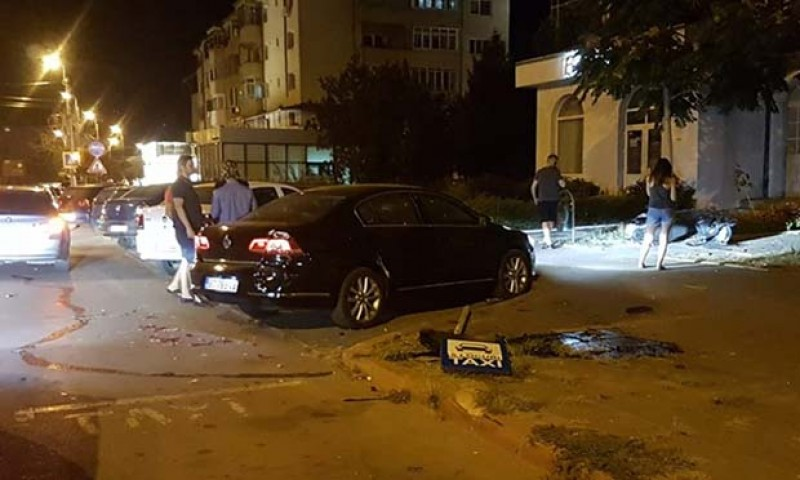 Trei mașini avariate, după un accident produs aseară pe Calea Națională