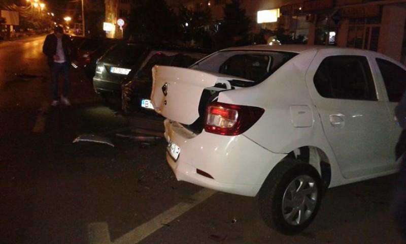 Trei maşini distruse la Stadion de un şofer care a fugit! FOTO