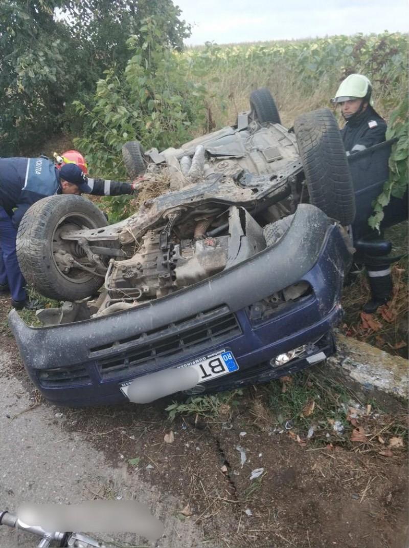 Trei răniți în urma unui grav accident rutier la Cuza Vodă, în Viișoara!