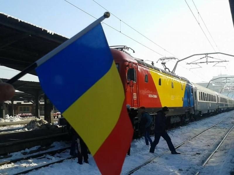 Trenul Unirii va uni simbolic orașele București și Iași, tras de o locomotivă tricoloră!