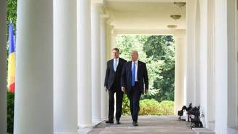 Trump dupa intalnirea cu Iohannis: Viitorul Romaniei este foarte, foarte stralucit
