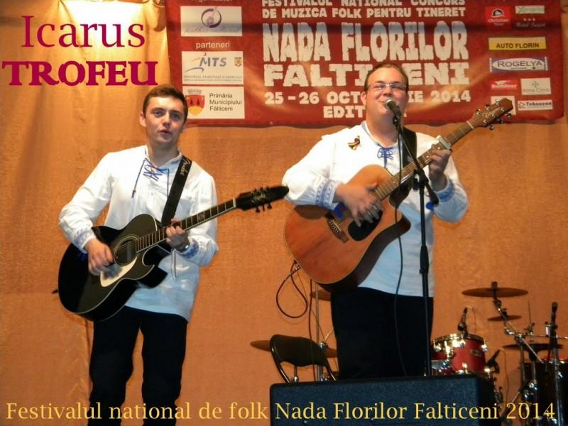 """Trupa Icarus, din Săveni, a obţinut Trofeul la Festivalul National de muzică folk """"Nada Florilor"""" Falticeni"""