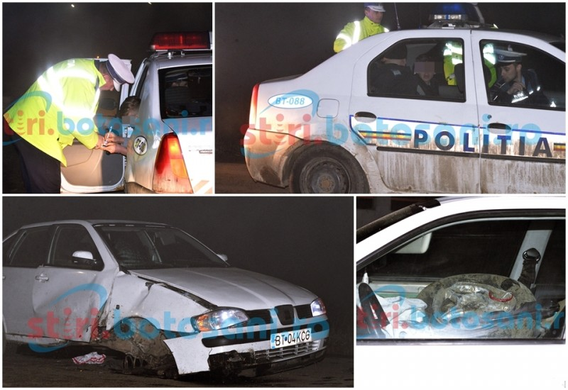 TUPEU INCREDIBIL! Băut bine, un MINOR a furat mașina unui prieten și a bagat o tânără în spital! FOTO