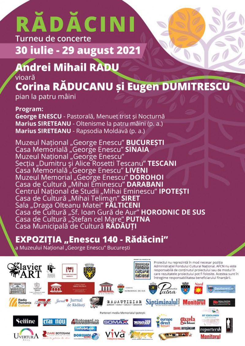 """Turneul de concerte """"Rădăcini"""" ajunge, în luna august, și în trei localități din Botoșani"""