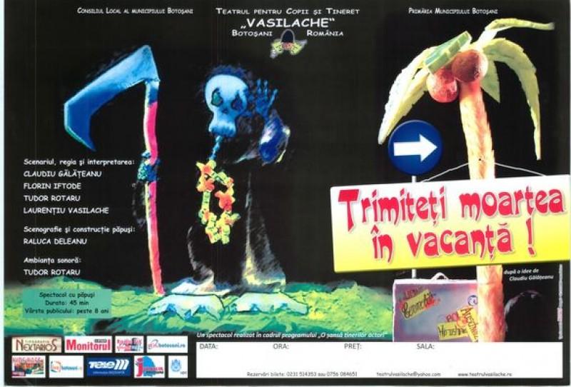 """Un apreciat spectacol din repertoriul Teatrului """"Vasilache"""" va putea fi urmărit online în această săptămână"""