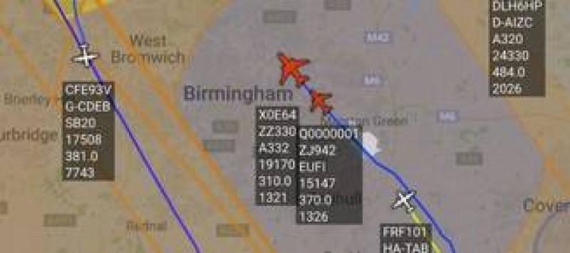 Un avion plecat din Romania a fost interceptat de avioane de lupta din Belgia si Marea Britanie