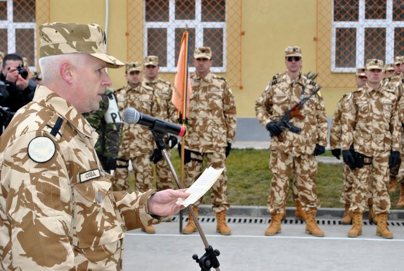 Un botoşănean care a condus militarii din Afganistan, avansat de ministrul Apărării