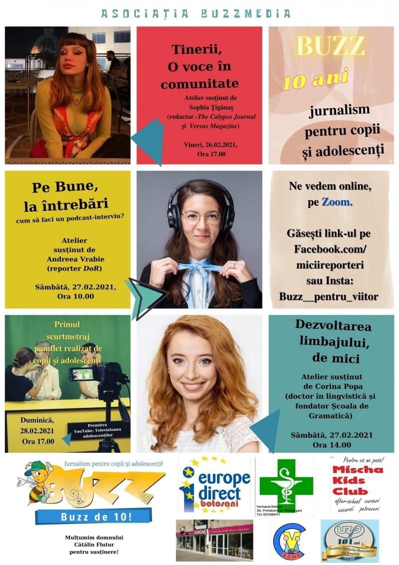 Un deceniu de jurnalism pentru copiii și adolescenții de la Buzz