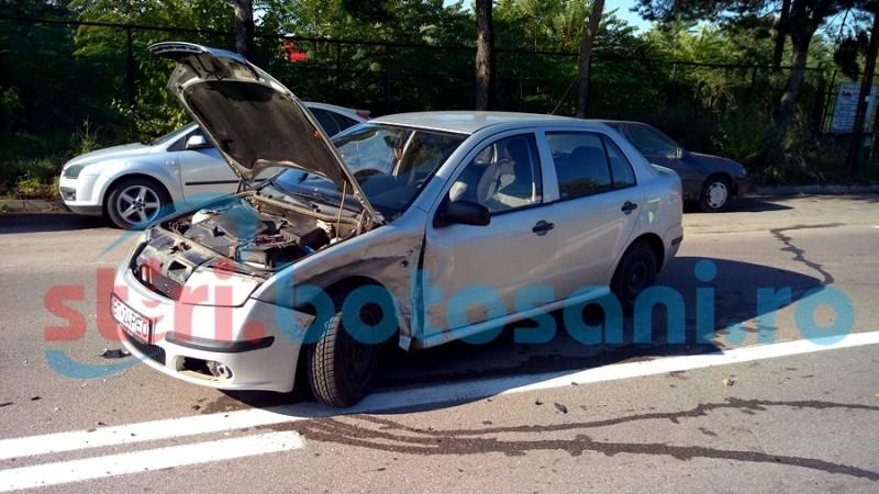 Un șofer a ajuns la spital, după o manevră imprudentă! FOTO