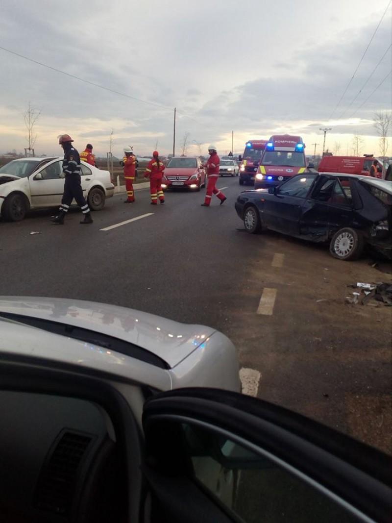 Un şofer botoşănean a fost implicat într-un accident cu două victime petrecut în Dumbrăveni- FOTO