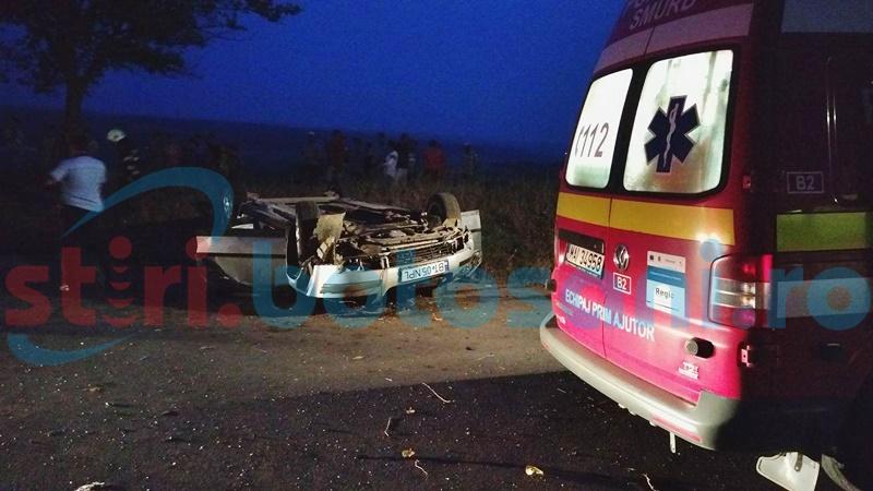Un tânăr a murit, iar altul este grav rănit, după ce au zburat cu maşina de pe şosea!