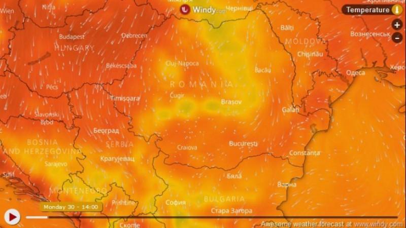 Un val de caniculă extremă lovește Europa zilele viitoare. Când ajunge în România