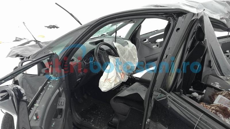 Una dintre victimele din accidentul de la Glodul Alb, transferată la Iaşi