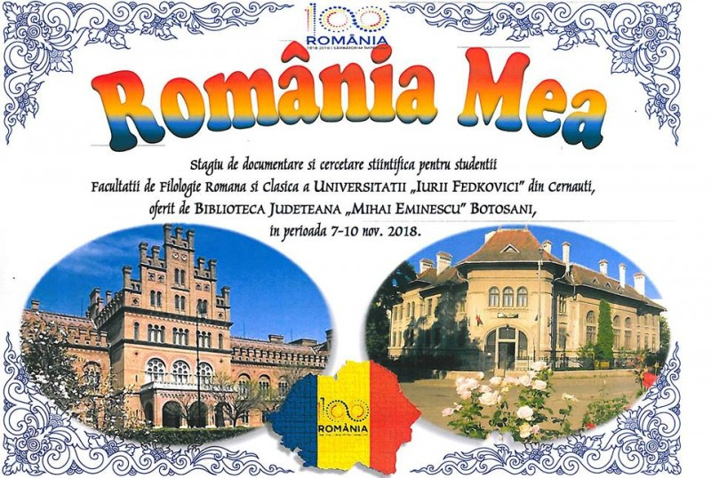 Universitatea din Cernăuți, stagiu de documentare și cercetare la Biblioteca Botoșani