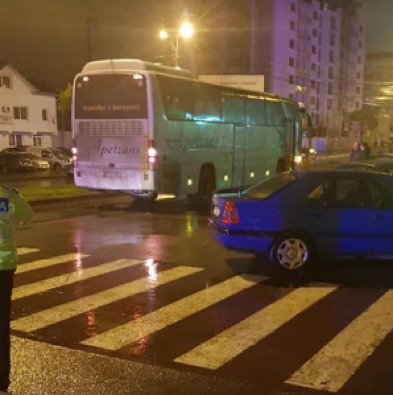 Update: Bătrâna lovită de autocar, joi dimineață, a decedat pe patul de spital