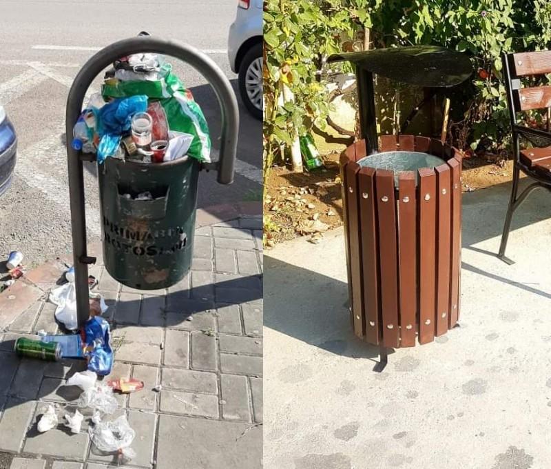Urban Serv va goli coșurile de gunoi zilnic, pe mai multe străzi din Botoșani