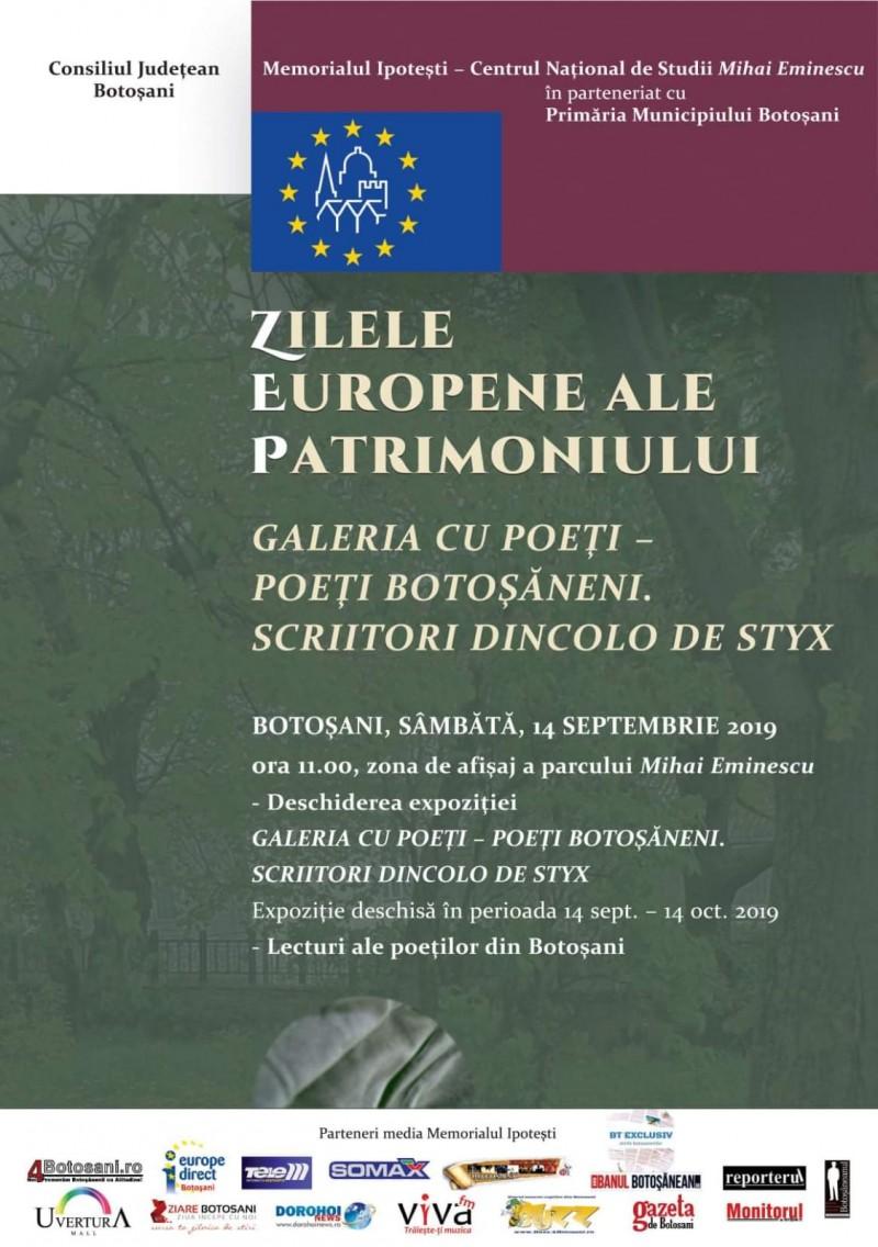 Vernisaj al poeților botoșăneni, în Parcul Mare, de Ziua Patrimoniului