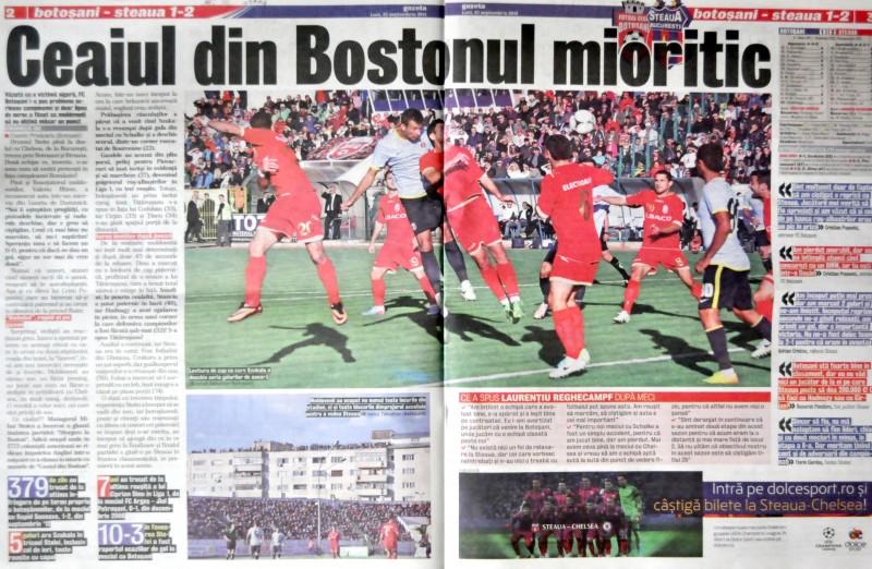 Vezi ce scrie presa nationala despre FC Botosani, dupa intalnirea cu Steaua!