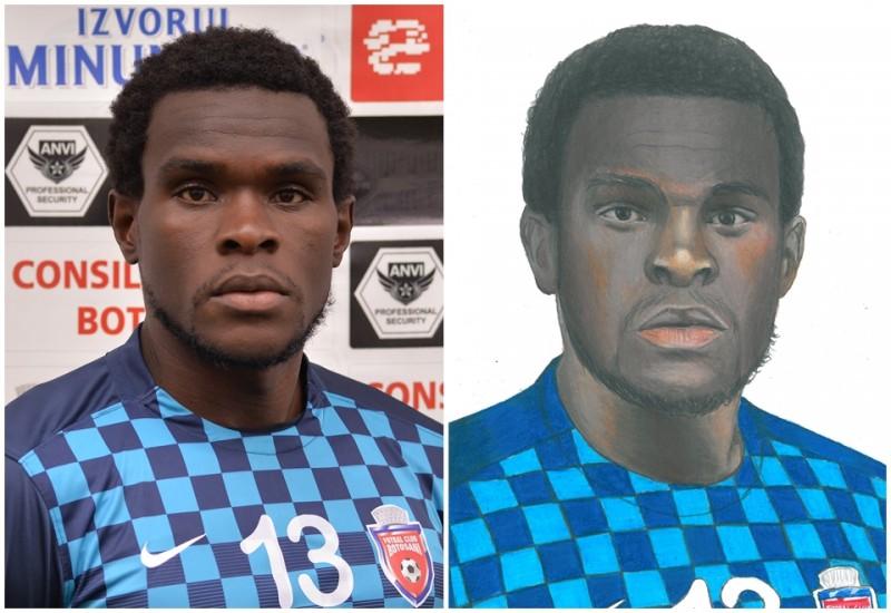 VEZI cum arata portretele jucatorilor de la FC Botosani, realizate de pustiul-minune Ionut Costache! FOTO