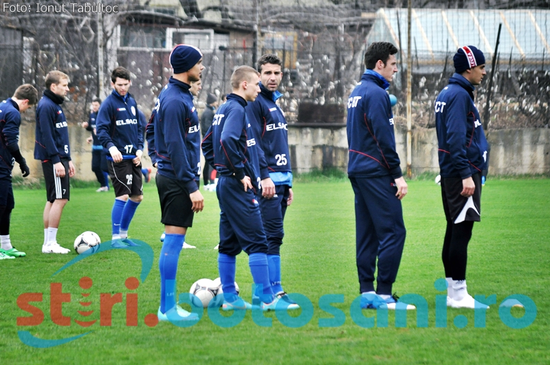 Vezi imagini de la antrenamentul de astazi al celor de la FC Botosani! GALERIE FOTO