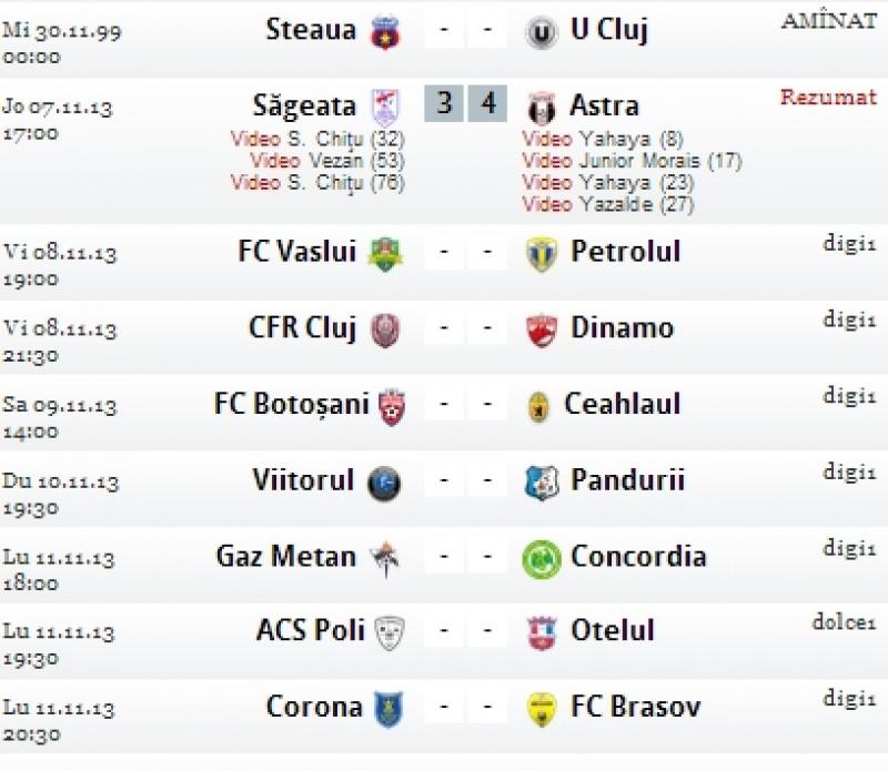 Vezi programul etapei a 14-a din Liga 1! S-a jucat deja un meci!