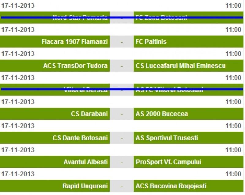 Vezi programul meciurilor din etapa a XIV-a din Liga a IV-a