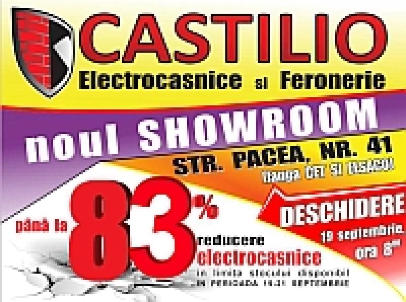 Vezi reducerile pe care le pregăteşte Castilio la deschiderea primului Showroom de Electrocasnice şi Feronerie din Botoşani