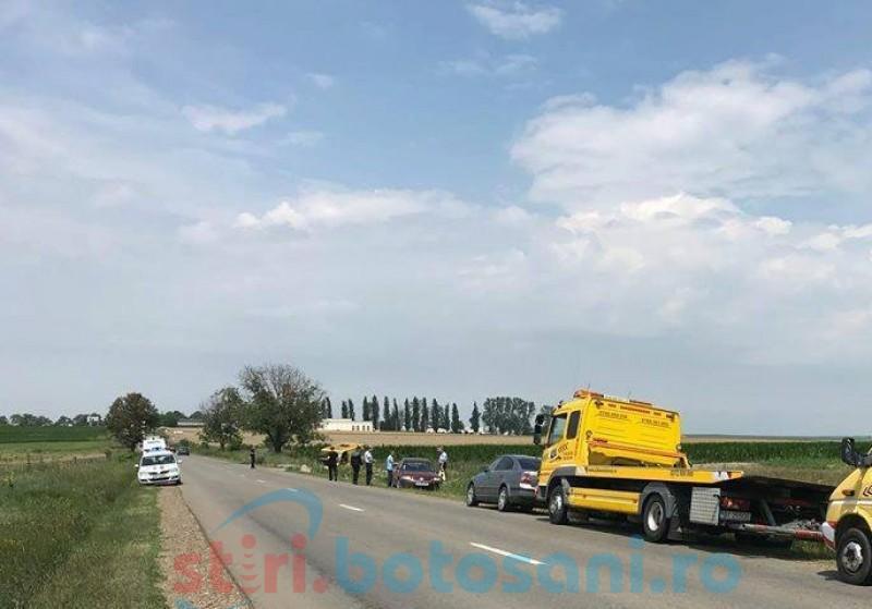 Victimele unui accident rutier produs la Cucorăni, ajutate de doi pompieri care se întorceau din misiune!
