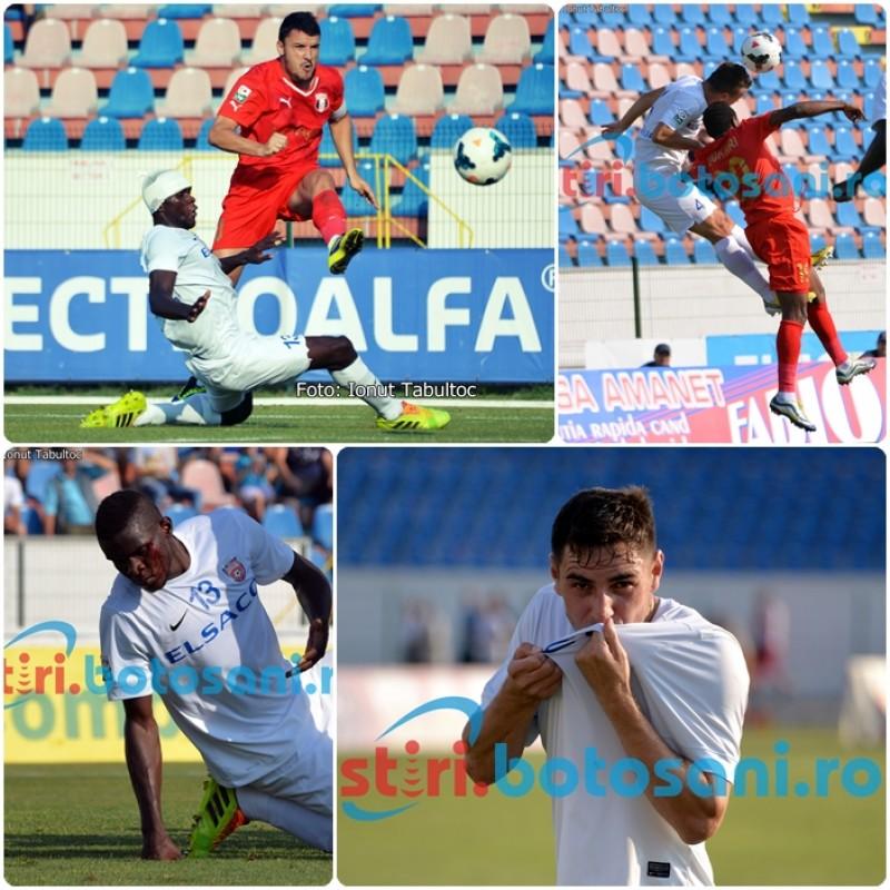Victorie IMENSA obtinuta de FC Botosani...cu mult SANGE! BATIN a sarutat stema la finalul meciului - GALERIE FOTO si VIDEO cu golul