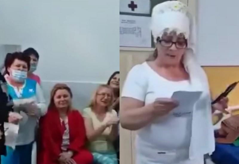 """VIDEO: Cadre medicale și pacienți au cântat """"Imnul COVID"""" la Infecțioase. Poliția a demarat o anchetă"""