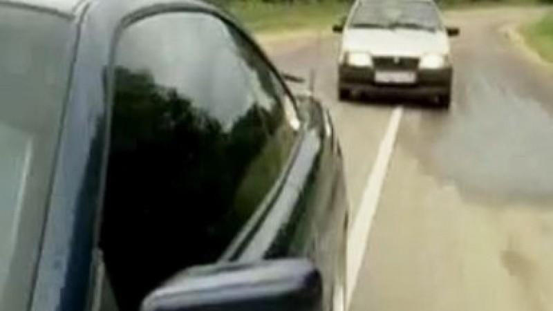 VIDEO - Cea mai nebunească depășire din România!