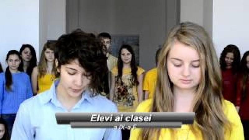 """VIDEO Cum văd """"laurienii"""" Ziua de 1 Decembrie: Mesaj către românii de pretutindeni, de la Colegiul Național """"A.T.Laurian"""""""