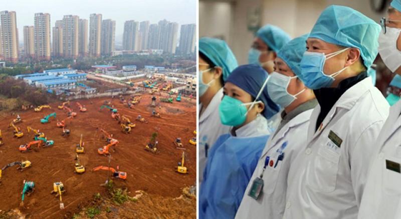 VIDEO. În 10 zile, chinezii au terminat de construit un nou spital de 1000 de paturi pentru bolnavii de coronavirus. Mâine se va face inaugurarea