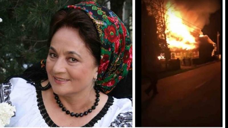 VIDEO - Incendiu violent la casa cântăreței Laura Lavric