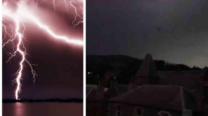 VIDEO incredibil: Lovită de un fulger în timp ce filma furtuna din balcon!