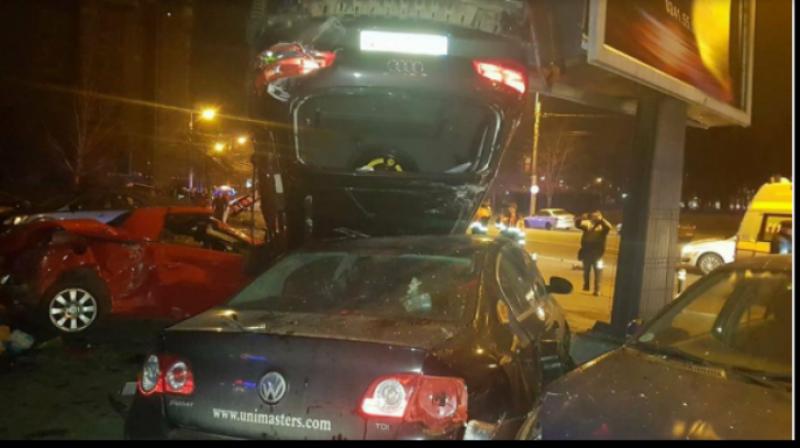 """VIDEO - Isprava unei șoferițe din România: A distrus 11 mașini! """"E apocaliptic!"""""""