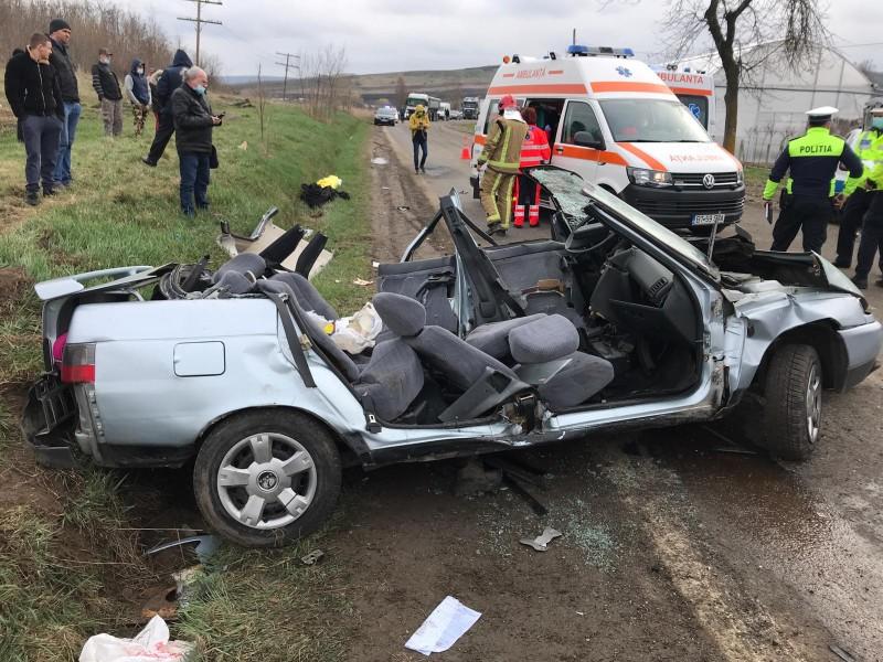 VIDEO: Manevra fatală a șoferiței care a provocat un accident cu doi morți și patru răniti, surprinsă de camere de supraveghere