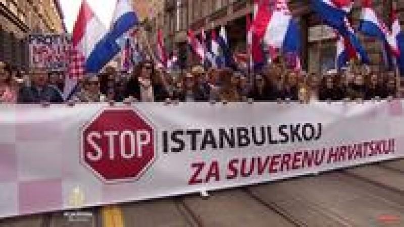 VIDEO Manifestaţie în Croaţia pentru susţinerea familiei tradiţionale şi împotriva Convenţiei de la Istanbul!