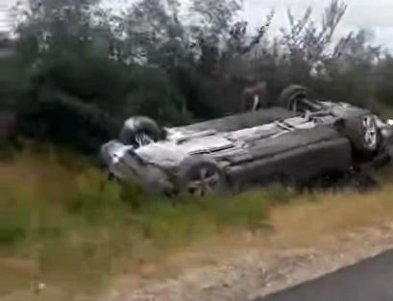 VIDEO: Momentul accidentului în care a fost implicat președintele Republicii Moldova, Igor Dodon