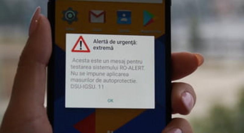 VIDEO - Sistemul RO-ALERT a fost verificat. Iata ce mesaje de avertizare apar pe telefon