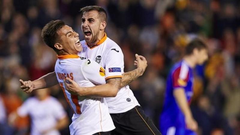 """VIDEO: Spectacol în """"sferturile"""" Europa League! Valencia a zdrobit-o pe Basel, 5-0, după ce pierduse cu 0-3!"""