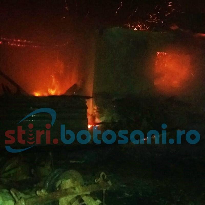 Vietăți ucise de flăcări, la Frumușica! Un alt incendiu a avut loc la Ștefănești! FOTO