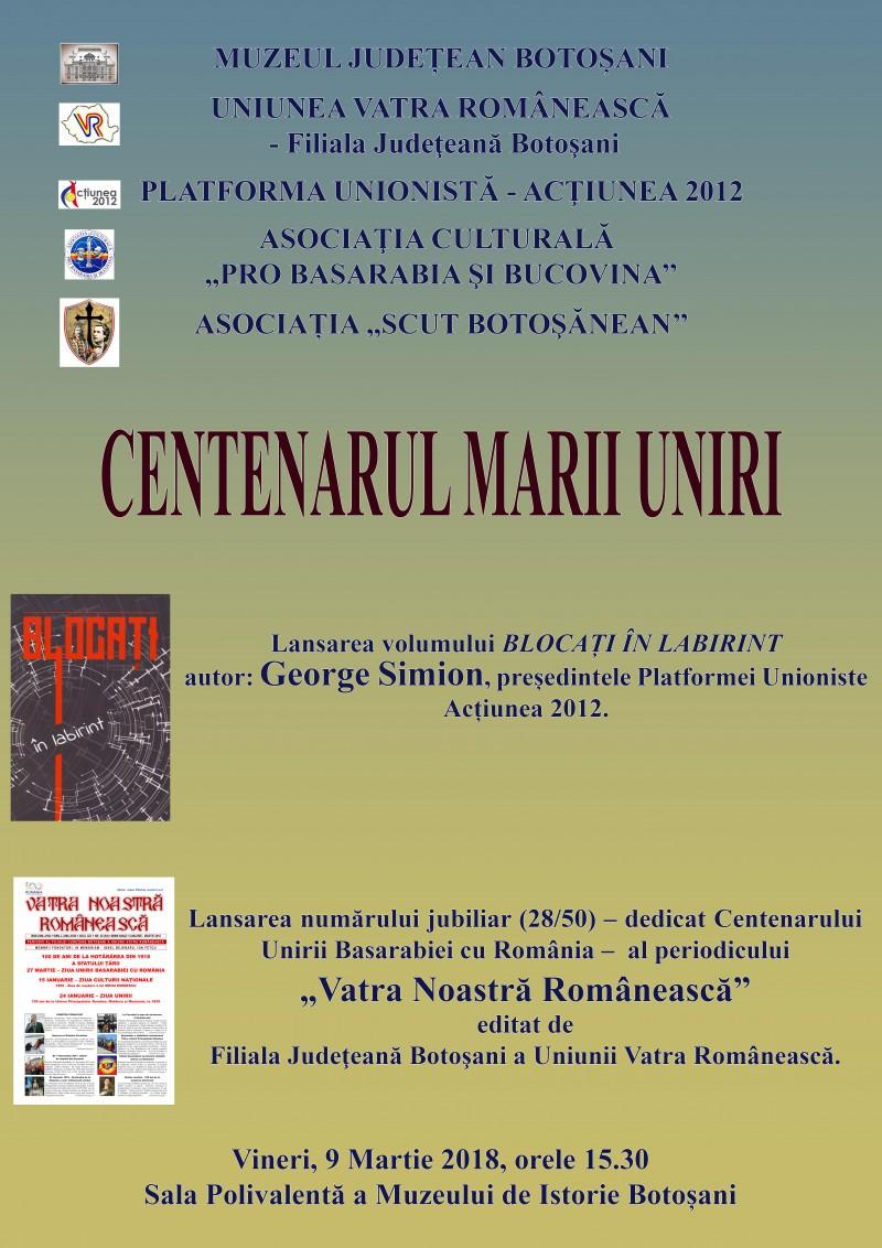 """Vineri, la Muzeul Județean Botoșani: Lansarea cărții """"Blocați în labirint"""", de George Simion!"""