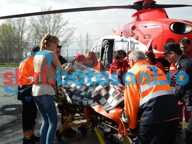 Viorica Afrasanei, preluata de elicopterul SMURD! FOTO