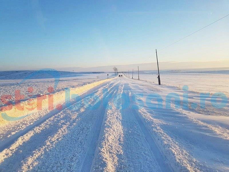Viscol puternic pe drumul Botoșani-Săveni! Traficul rutier se desfășoară cu dificultate din cauza zăpezii de pe șosea! FOTO, VIDEO