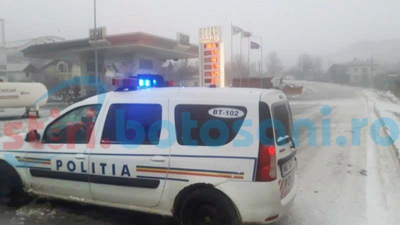 Vizibilitate redusă pe drumul Botoșani-Săveni! Traficul a fost restricționat! FOTO