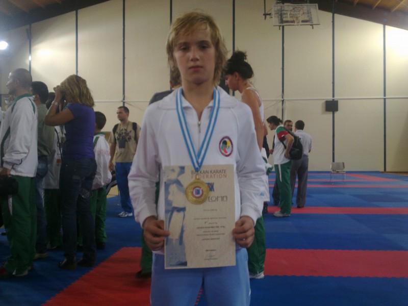 Vlad Pamfil, campion balcanic la karate! - FOTO