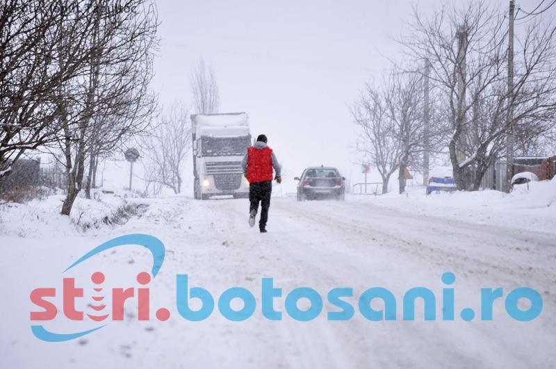 Vreme rece şi ninsori anunţate la Botoşani